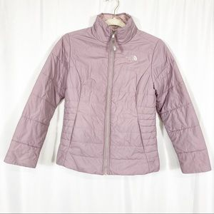 The North Face Girls Quilted Puffer Jacket: Mauve